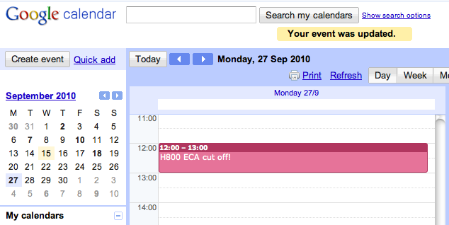 Deadline on Google Calendar