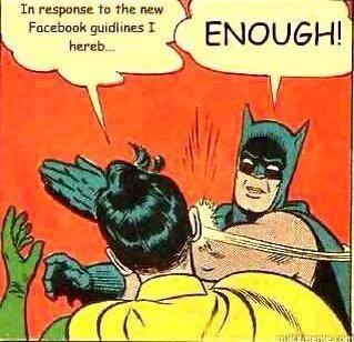 Batman reacts to Facebook hoax