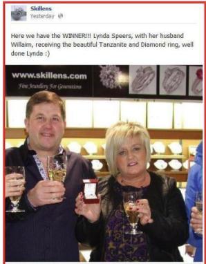 Skillens Facebook Winner