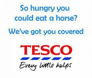 Tesco Horse Meat Burgers Funny Pic