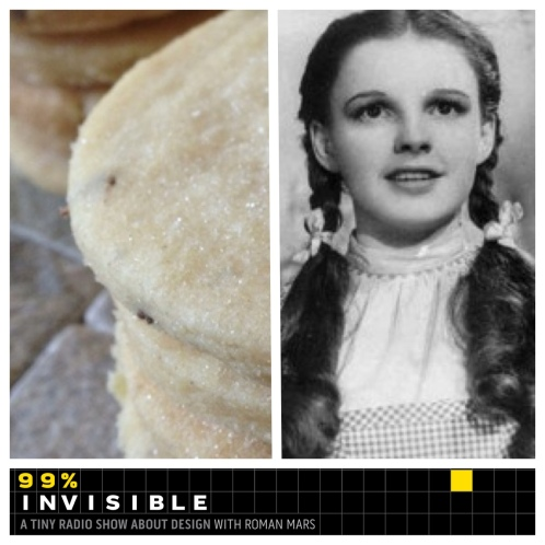 Judy Garland Snapguide cookies and 99% Invisible
