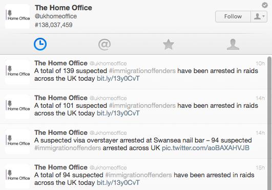 UK Home Office twitter