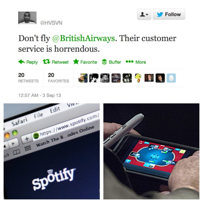 The Week In Social 06 Sept John McCAin Poker British AIrways Promoted Tweet Spotify sued by Ministry of Sound